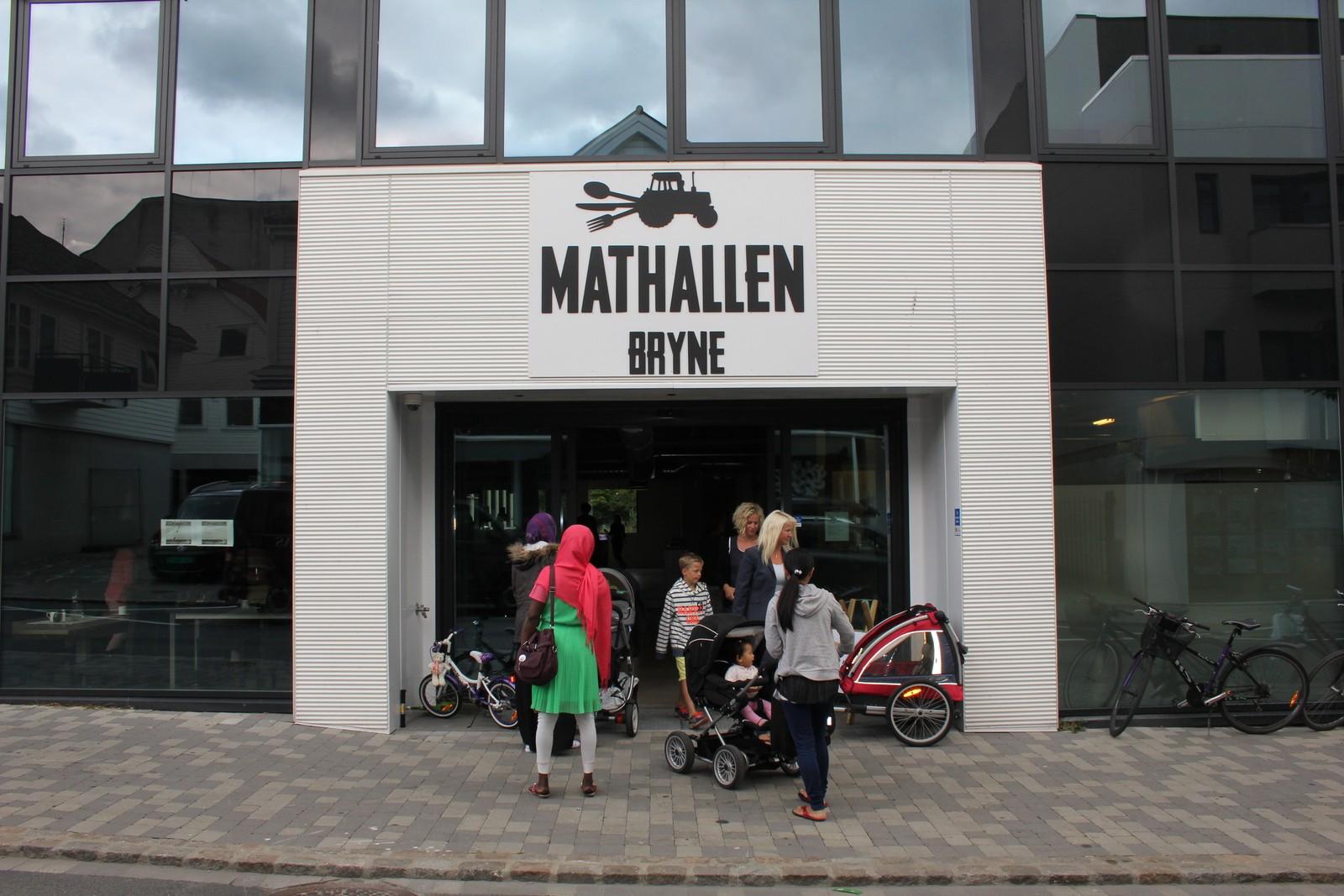 Mathallen på Bryne i Rogaland. Den gikk konkurs i 2014, men det skal være flere som er interessert i å gjenoppta driften.