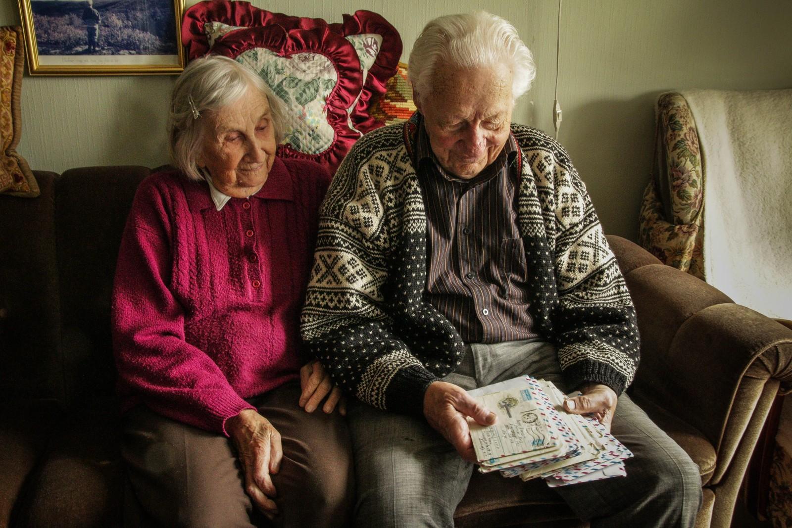 HELE LIVET: Anne Lise og Birger Evensen har vært gift i over 70 år