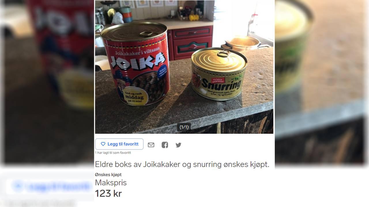 Joikaboks og boks med Snurring ønskes kjøpt på Finn.no