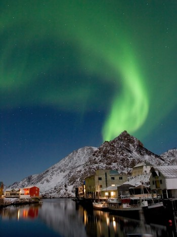 Nordlys over Nyksund