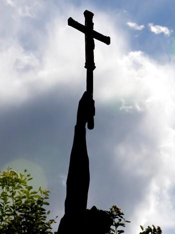 Statue av Olav den Hellige på Stiklestad
