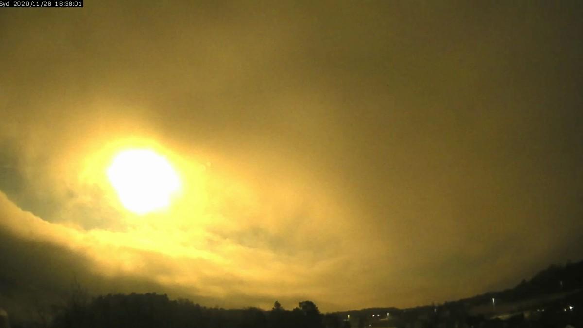 Meteor sett fra Larvik.
