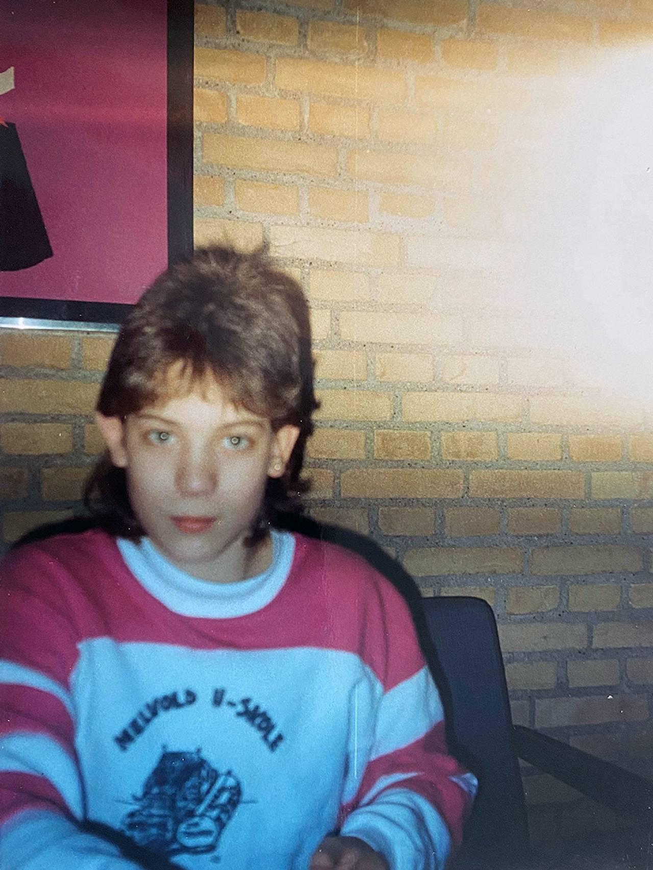 André Haaland i 1990. André overlevde dødsbrannen på Scandinavian Star.