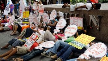 Liggende protest i Manila