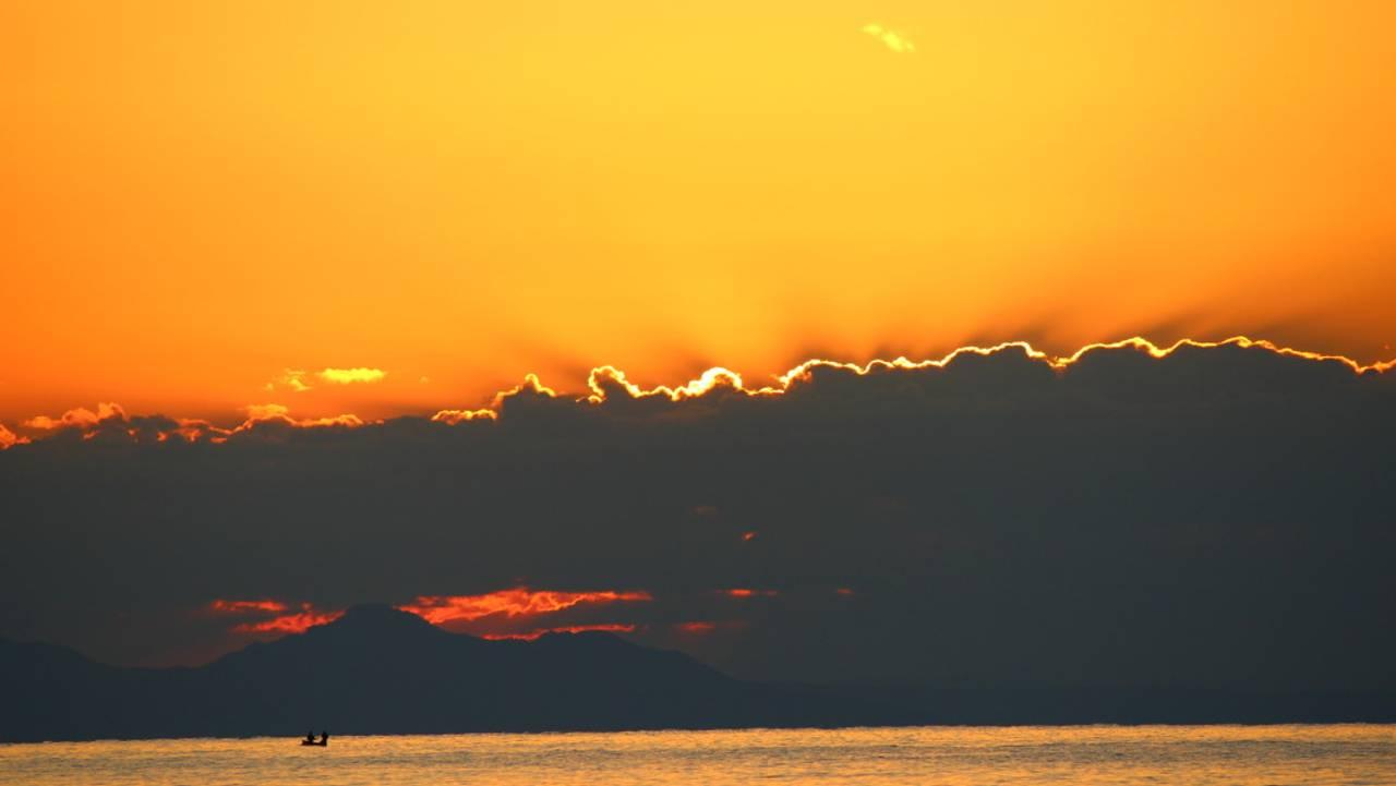 Malawisjøen i solnedgang
