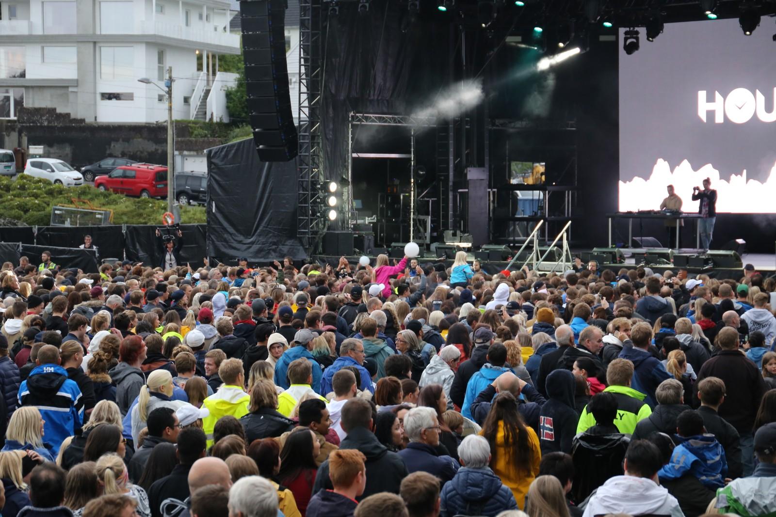 Gratiskonserten ble godt mottatt av publikum.