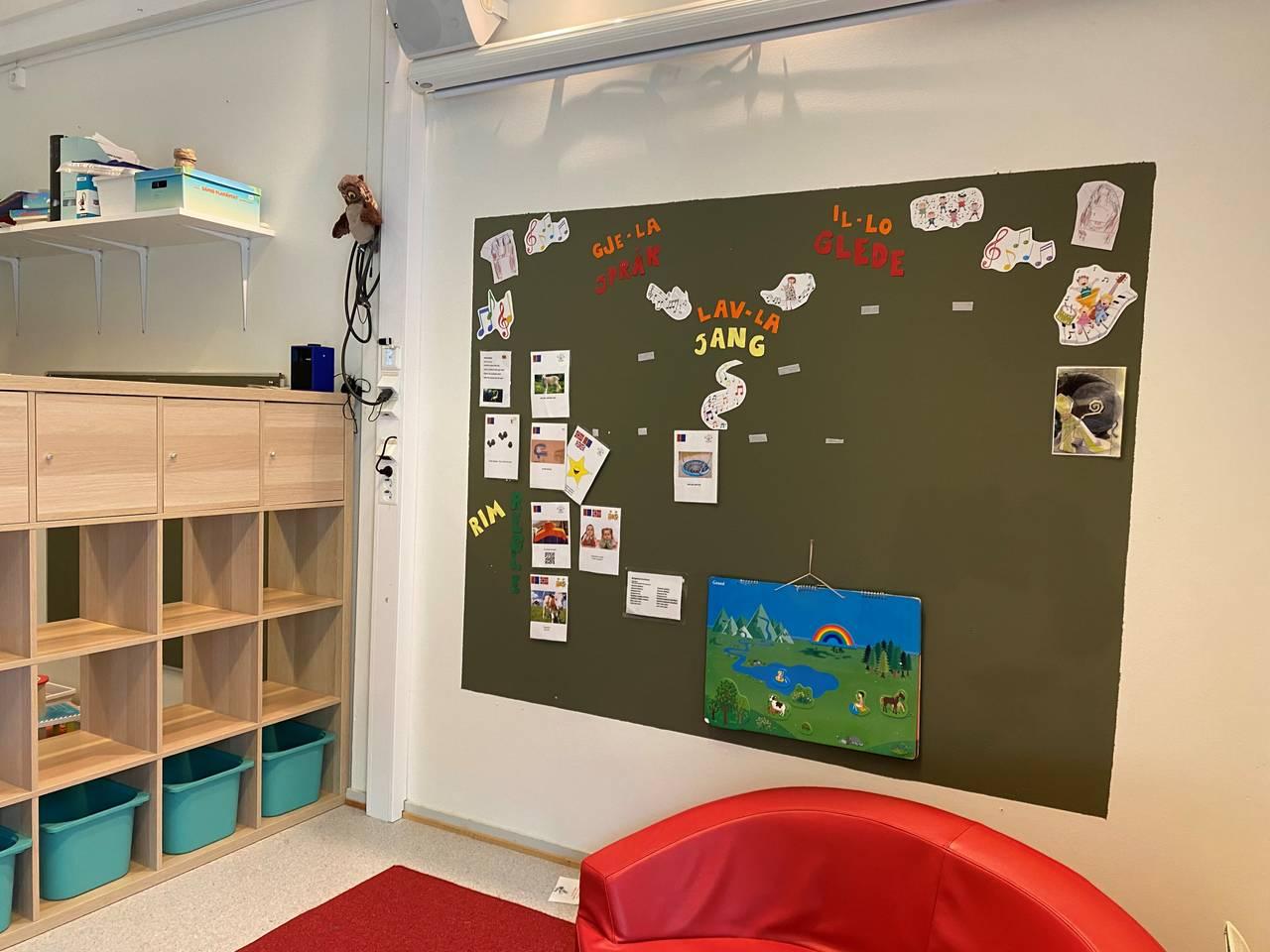 Et bilde av den samiske barnehageavdelingen.