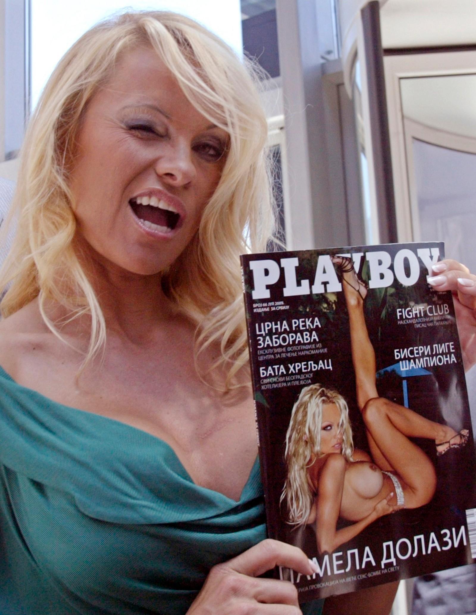 Skuespiller Pamela Anderson er en av mange kjente kvinner som har posert på forsiden av Playboy.