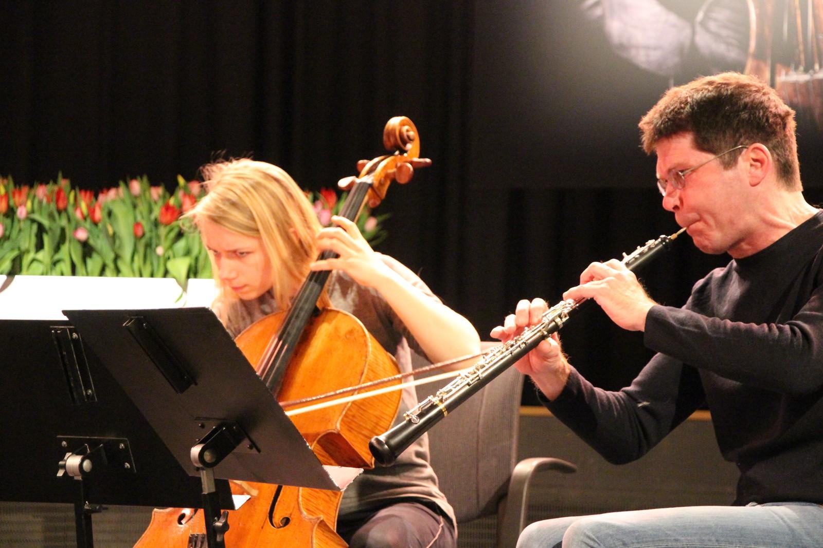 Mirjam Kammler og Christoph Hartmann øver.