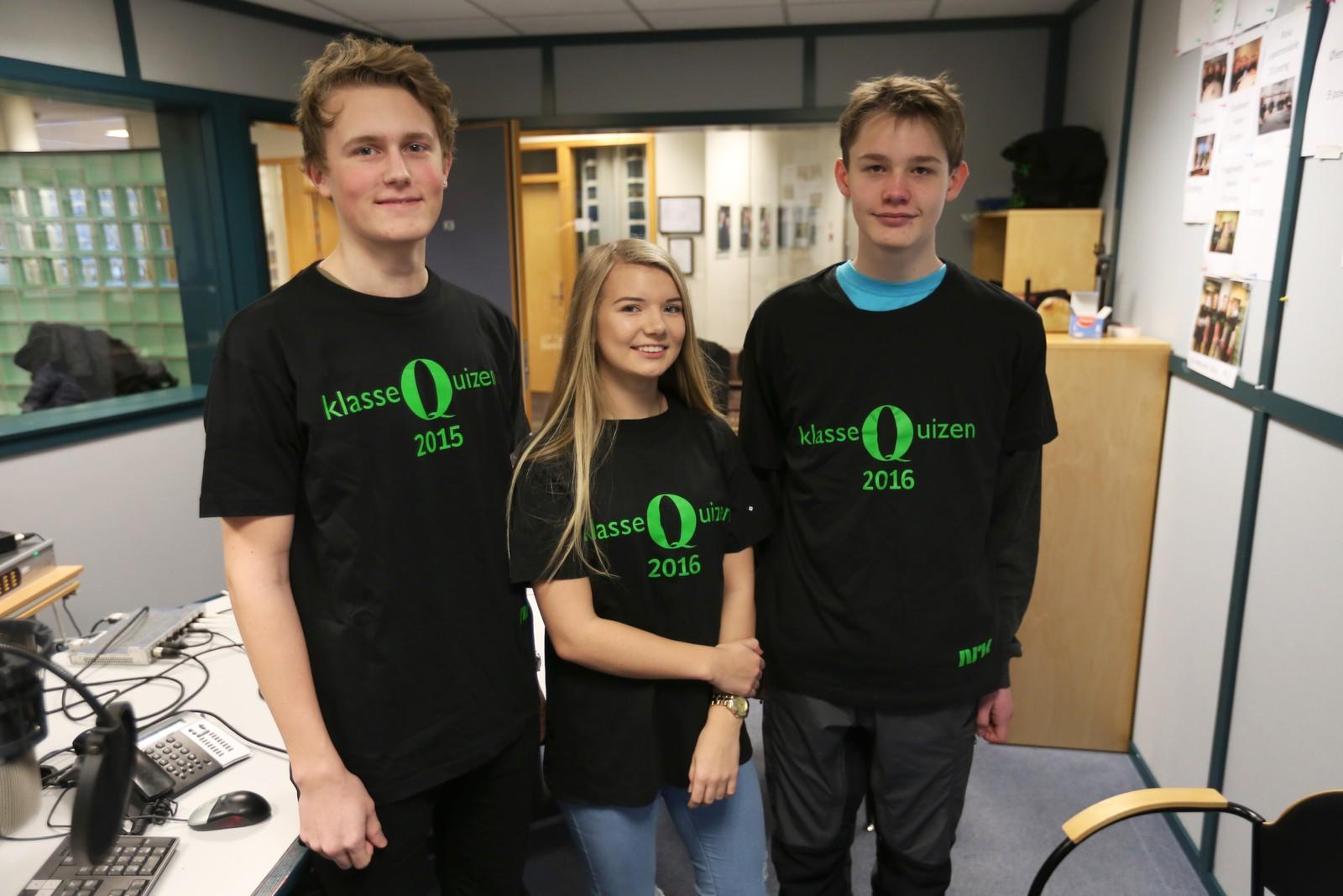 8 POENG: Orstad skole: Bjarte Matre, Ingrid Njærheim, Tobias Refsland.