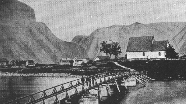 Vangen kyrkje i 1870.
