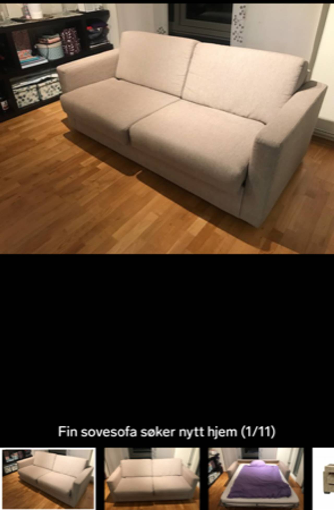 Brun sovesofa i en stue