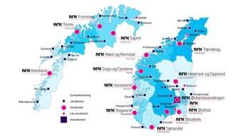 NRK - avdelinger landet rundt (pr sept 2014).