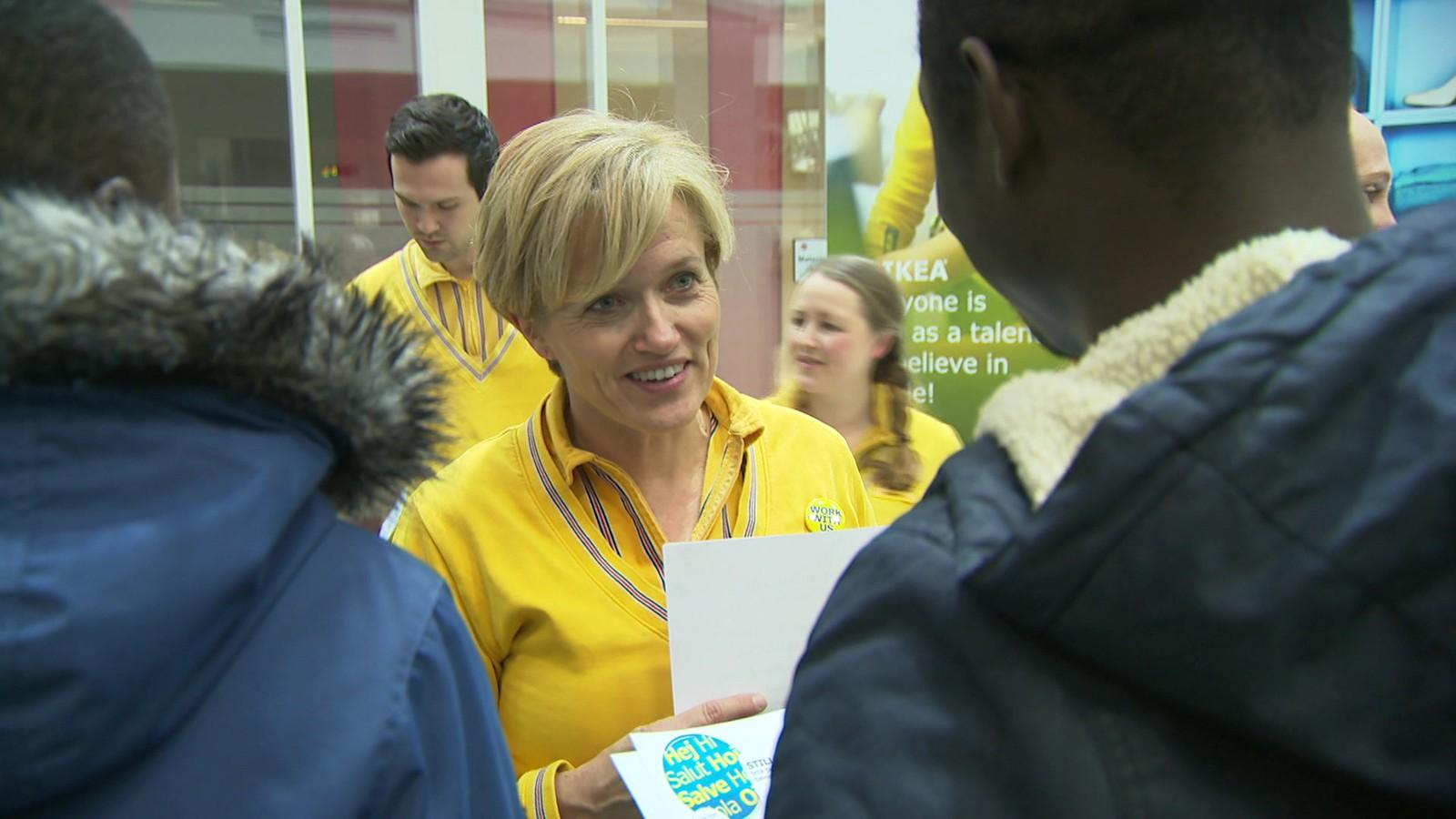 Personalsjef Merethe Konningen ved IKEA Sørlandet forteller hva hun forventer av sommerjobbsøkere.