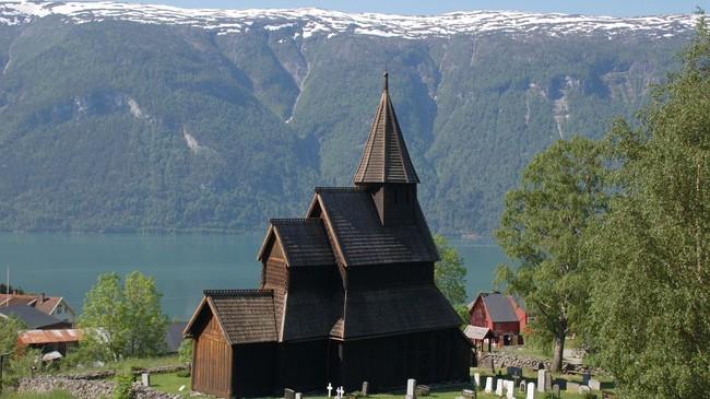 Urnes stavkyrkje er ei av stavkyrkjene i Sogn som framleis står. Foto: Merete Husmo Høidal, NRK