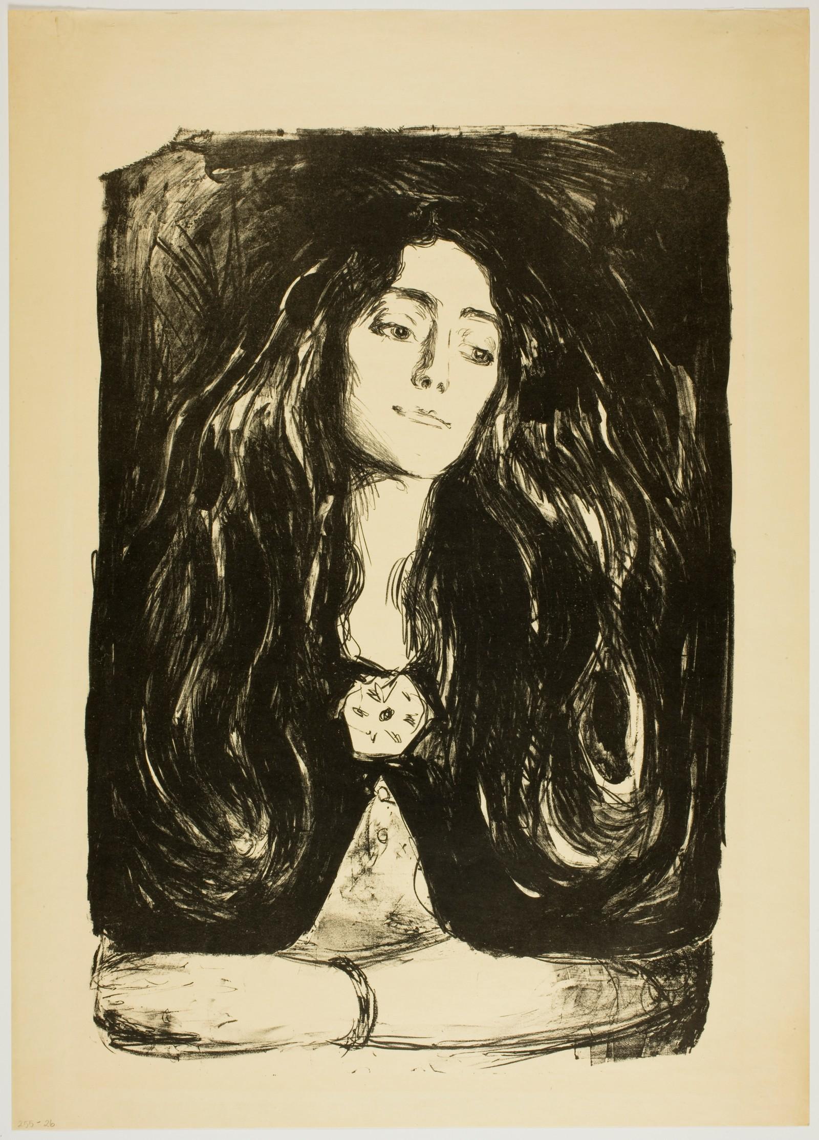 Munch: Brosjen. Eva Mudocci, 1903