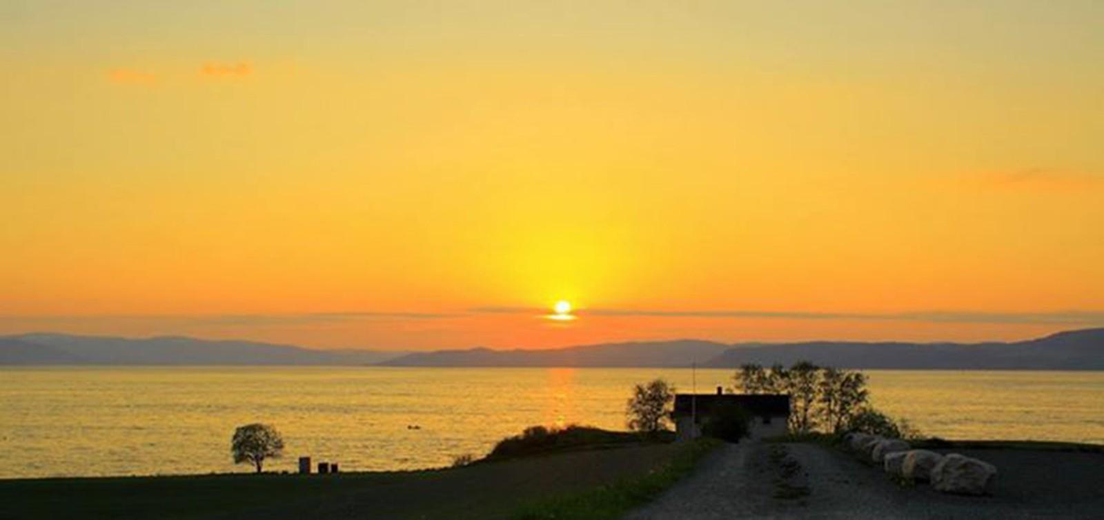 Solnedgang, sett fra Byneset