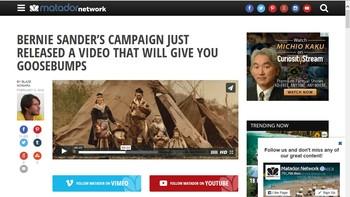 Bernie Sanders bruker bilde av samer i valgkampanje