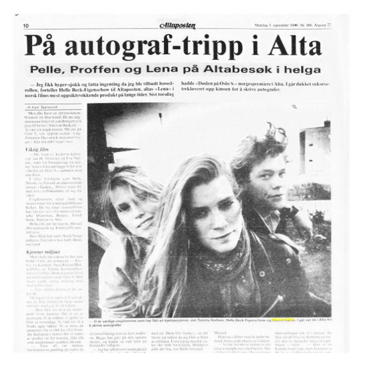 DØDEN PÅ OSLO S: På besøk i Alta.
