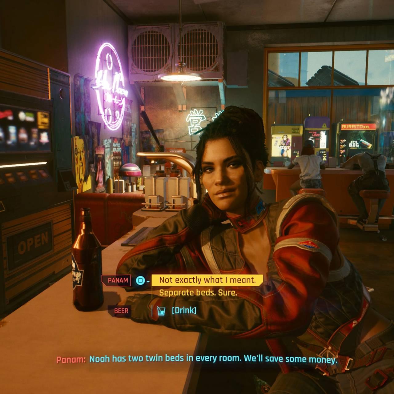 Skjermbilde fra spillet «Cyberbunk 2077.
