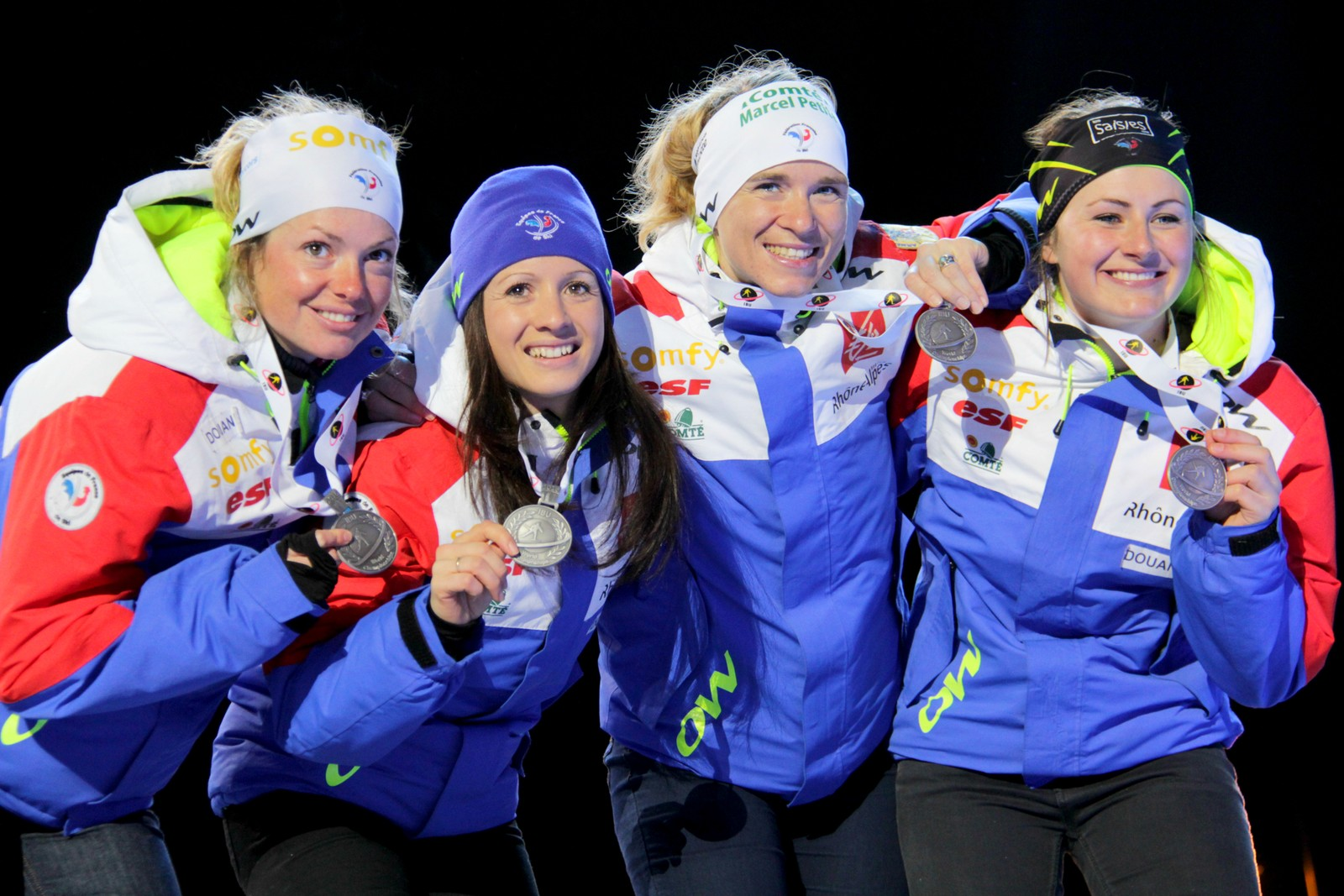 Medal ceremony, women's relay 11 March