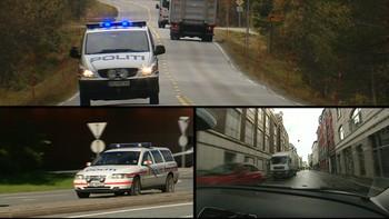 Dagsrevyen-sak om politiberedskapen. Reporter er Martin Fjørtoft.
