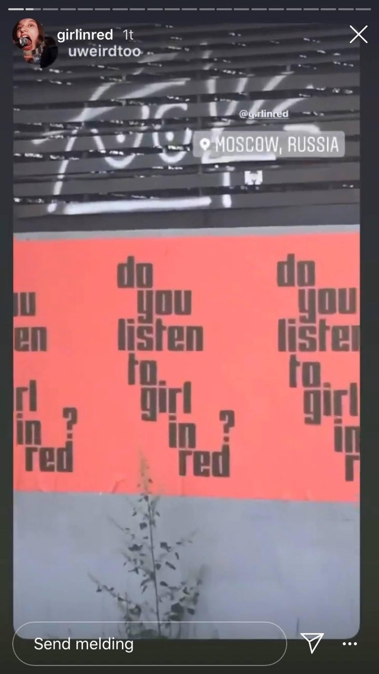 girl in red - insta skjermdump