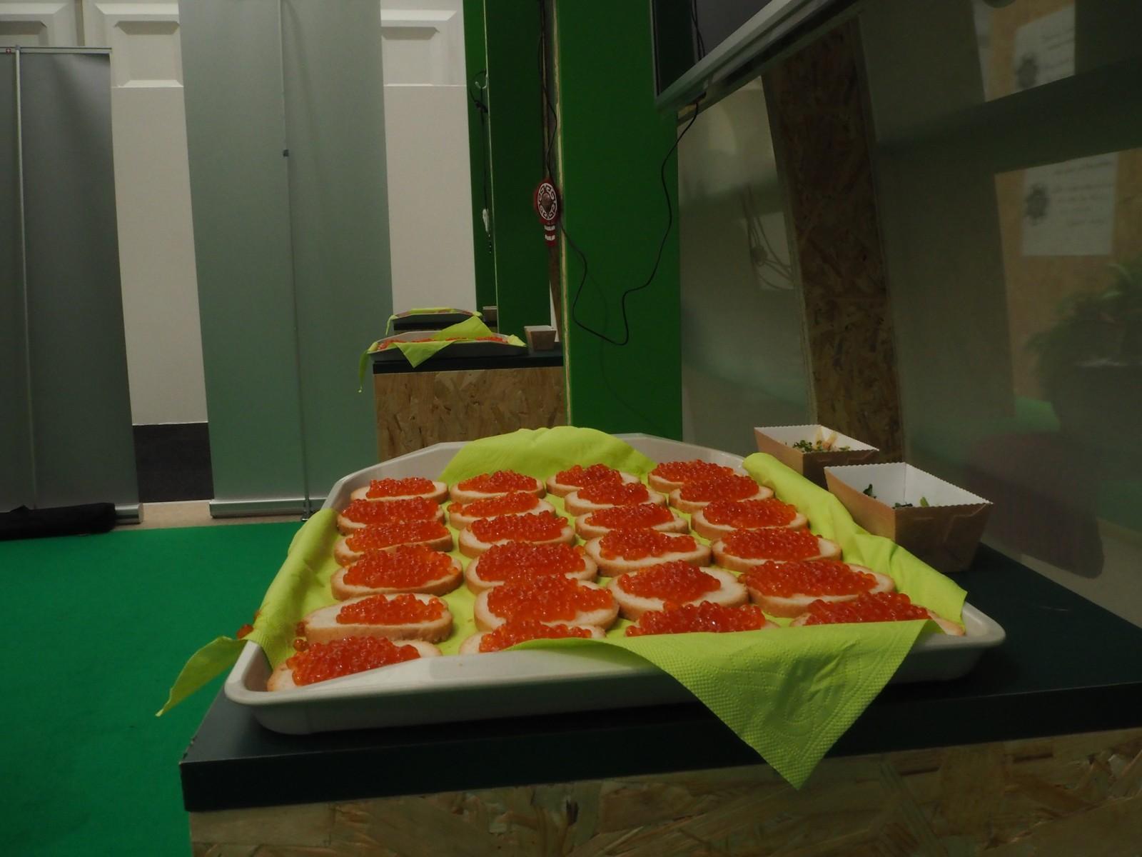 Russisk kaviar under dagen for russiske urfolk.