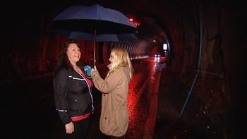 Video Det regnar sjøvatn i Bjorøytunnelen