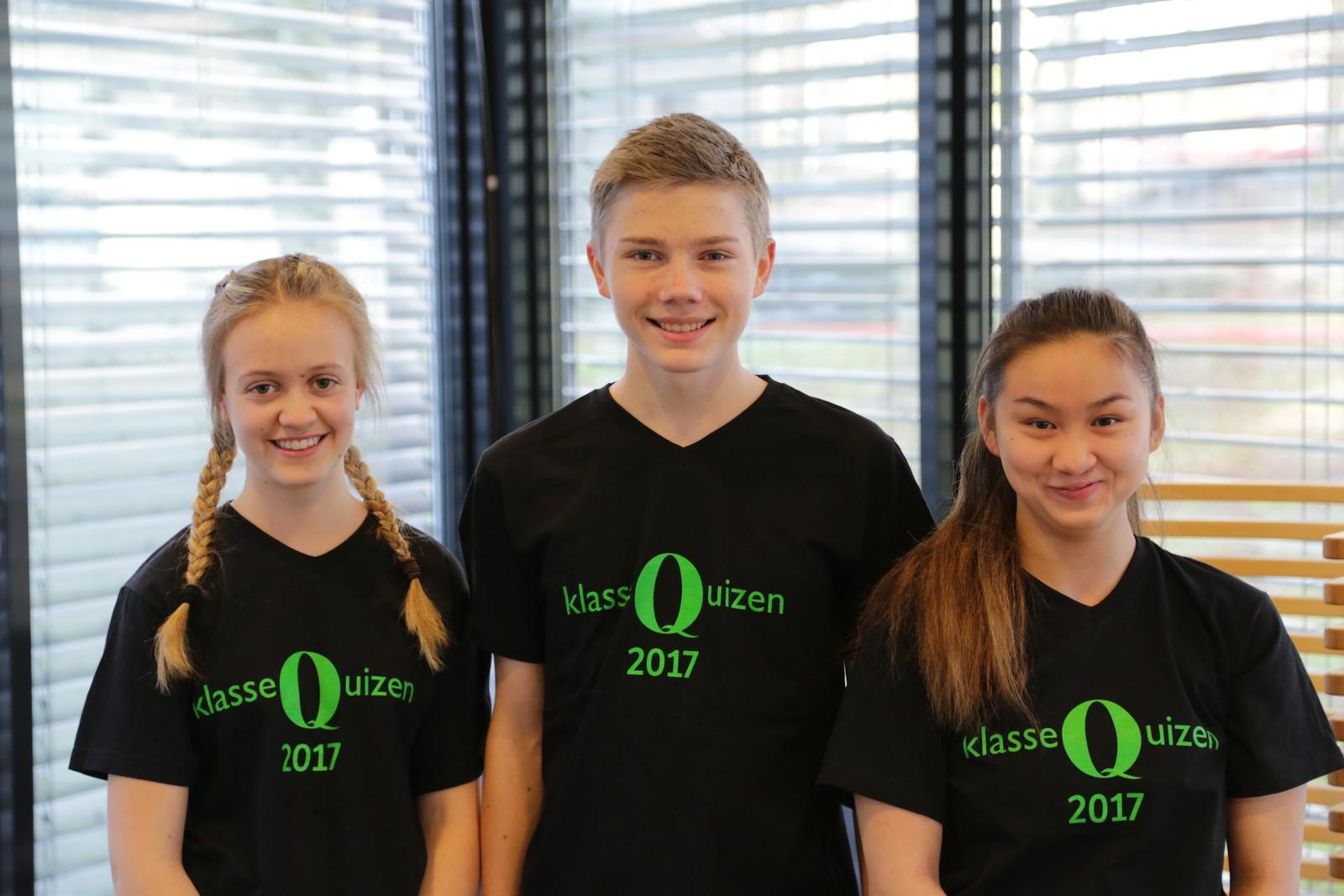 Ida Sværen Oaland, Kristof Hansson og Tania Yu Auglend deltok for Hjelmeland skule. De leverte en solid innsats og endte opp med 8 poeng.