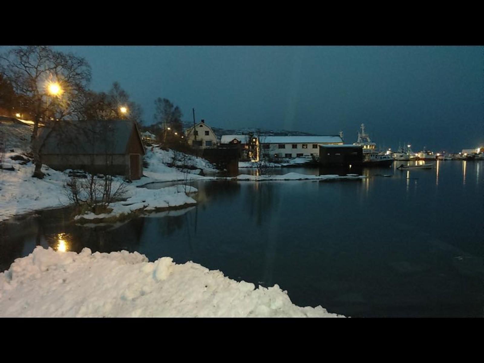 Stor flo på Skjervøy fredag kl 14.00.