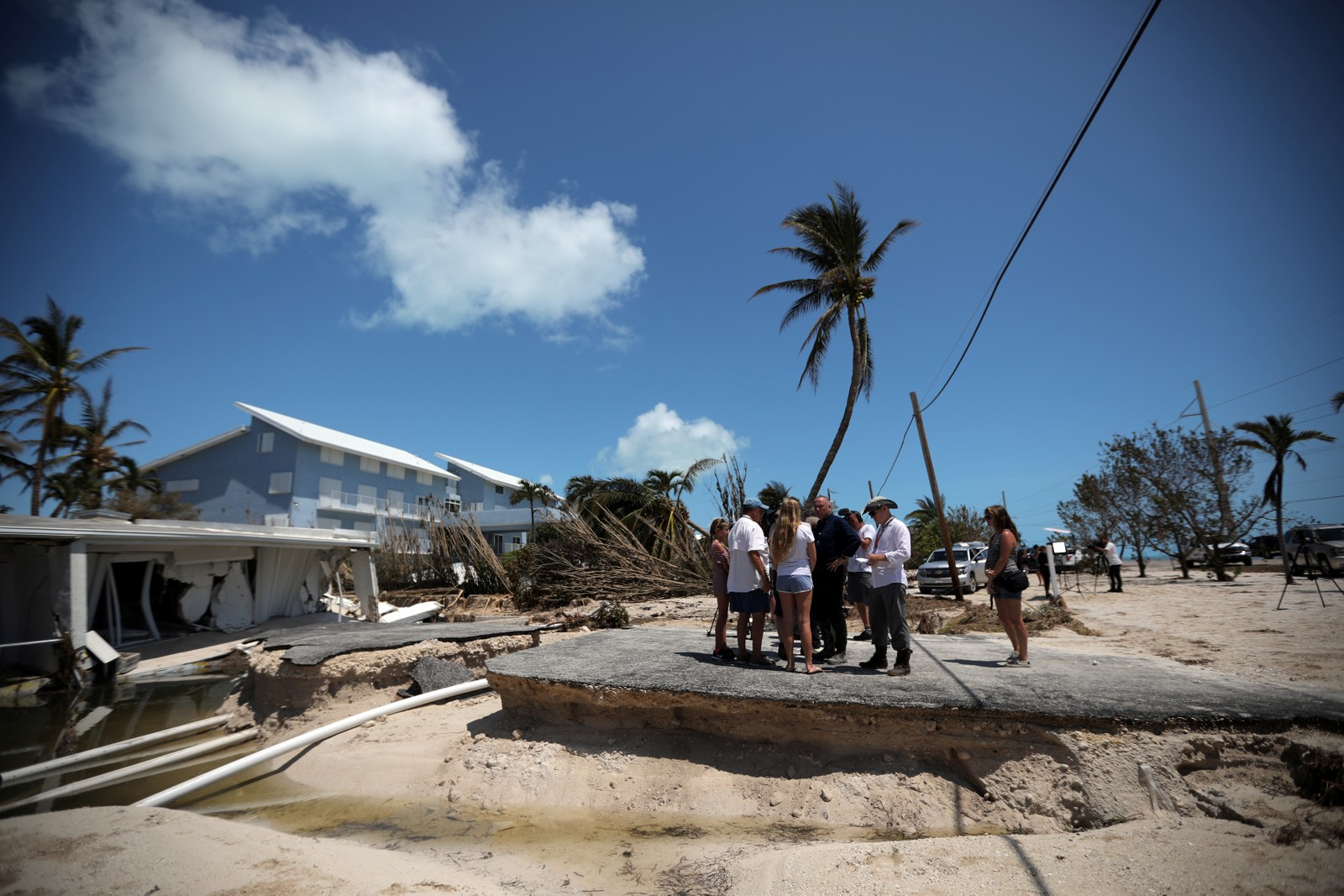 Store ødeleggelser i Florida etter orkanen Irma.