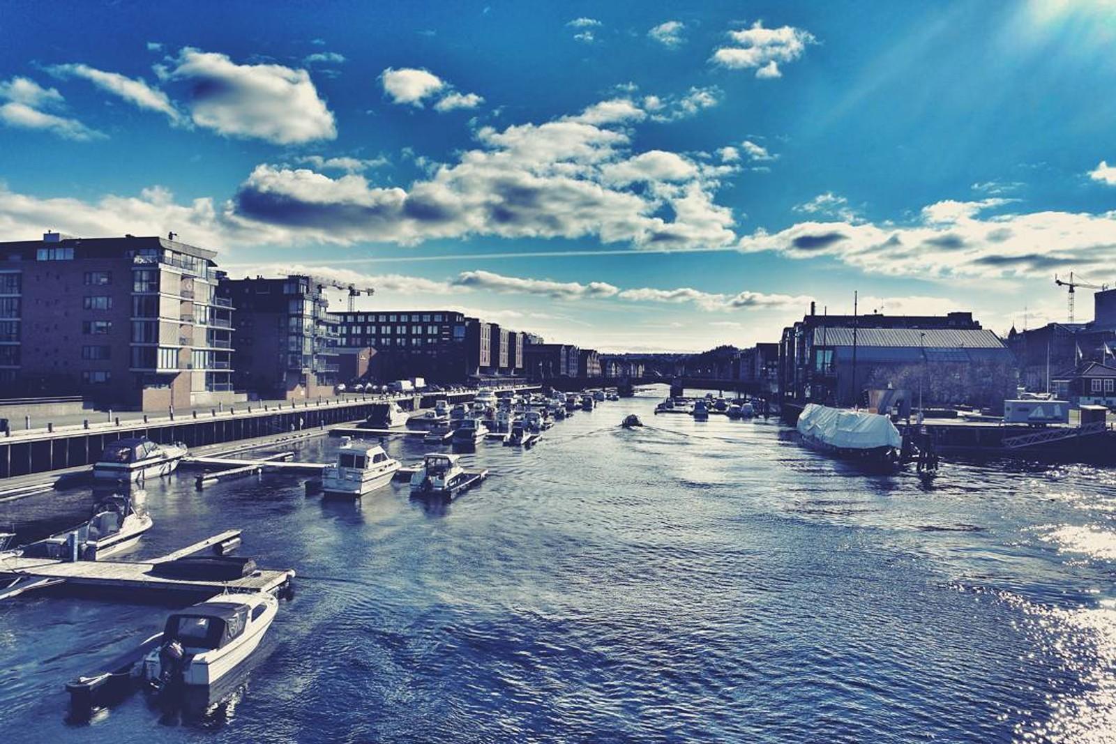 Påskesol i Trondheim.