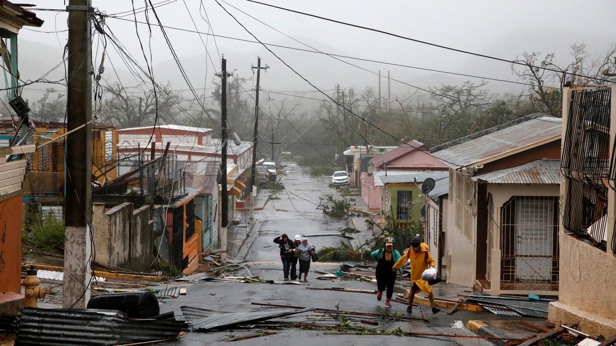 Hele Puerto Rico uten strøm