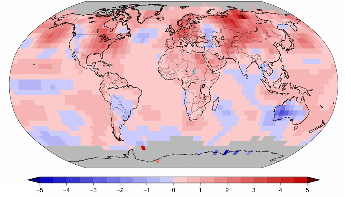 September 2016 global temperatur - Foto: NOAA