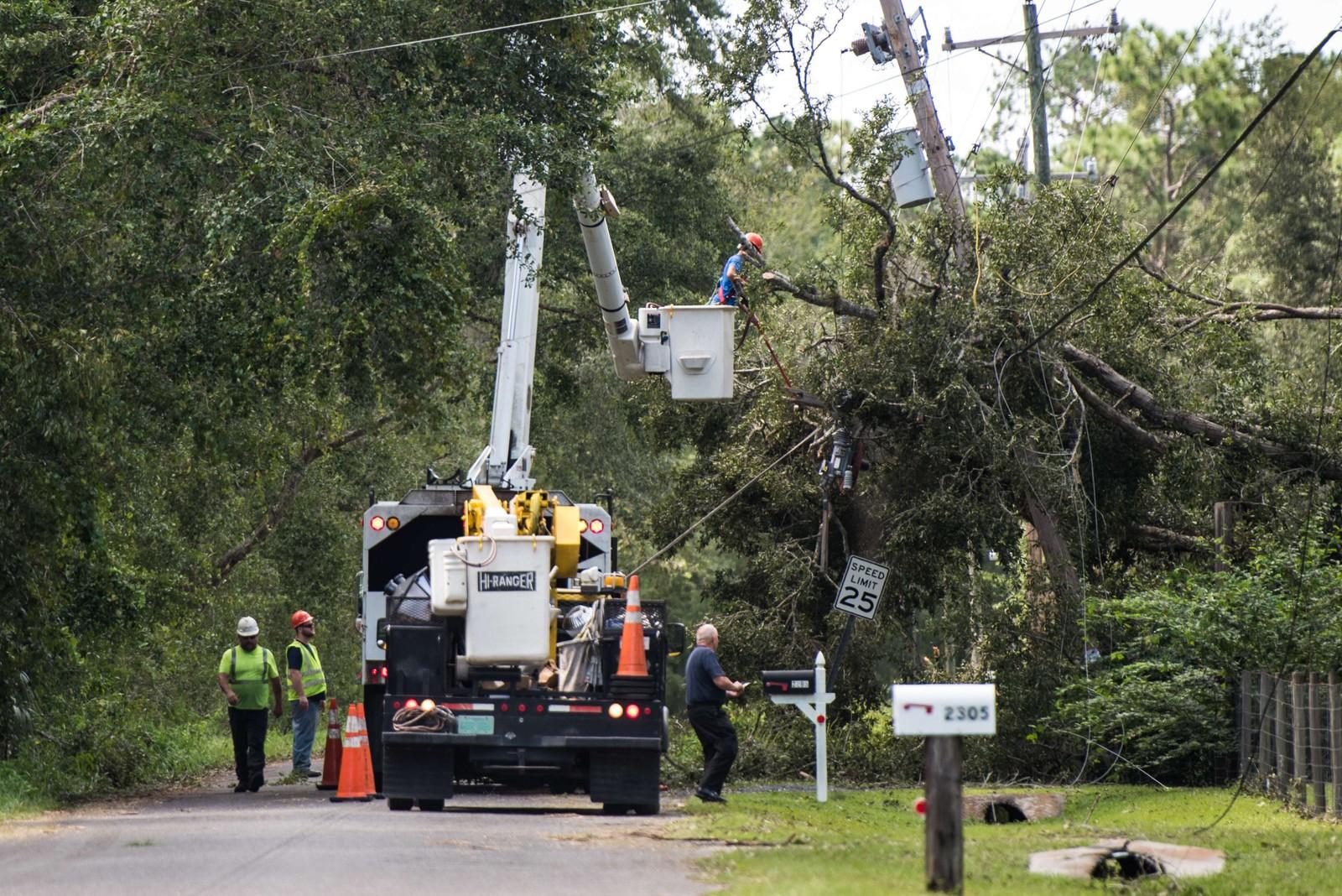 Omtrent halve Florida sitter uten strøm etter Irmas herjinger.