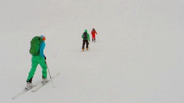 Turfølge på skitur i tåke - Foto: @erikstory / Instagram