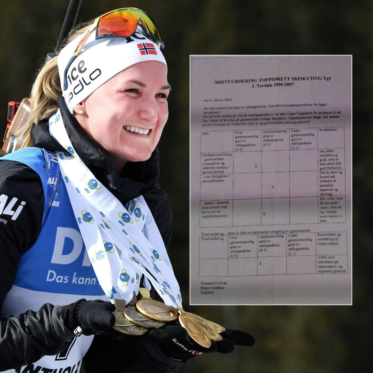 Bilde av VM-dronningen var dårligst i klassen i skiskyting