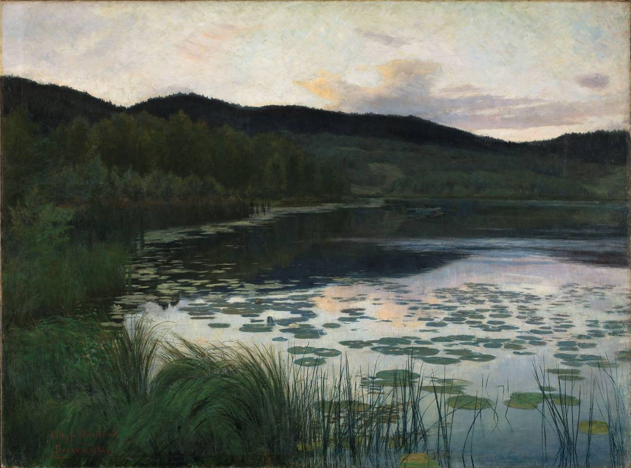 «Sommernatt» fra 1886 av Kitty Kielland