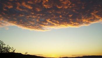 Solnedgang over Lademoen kirke
