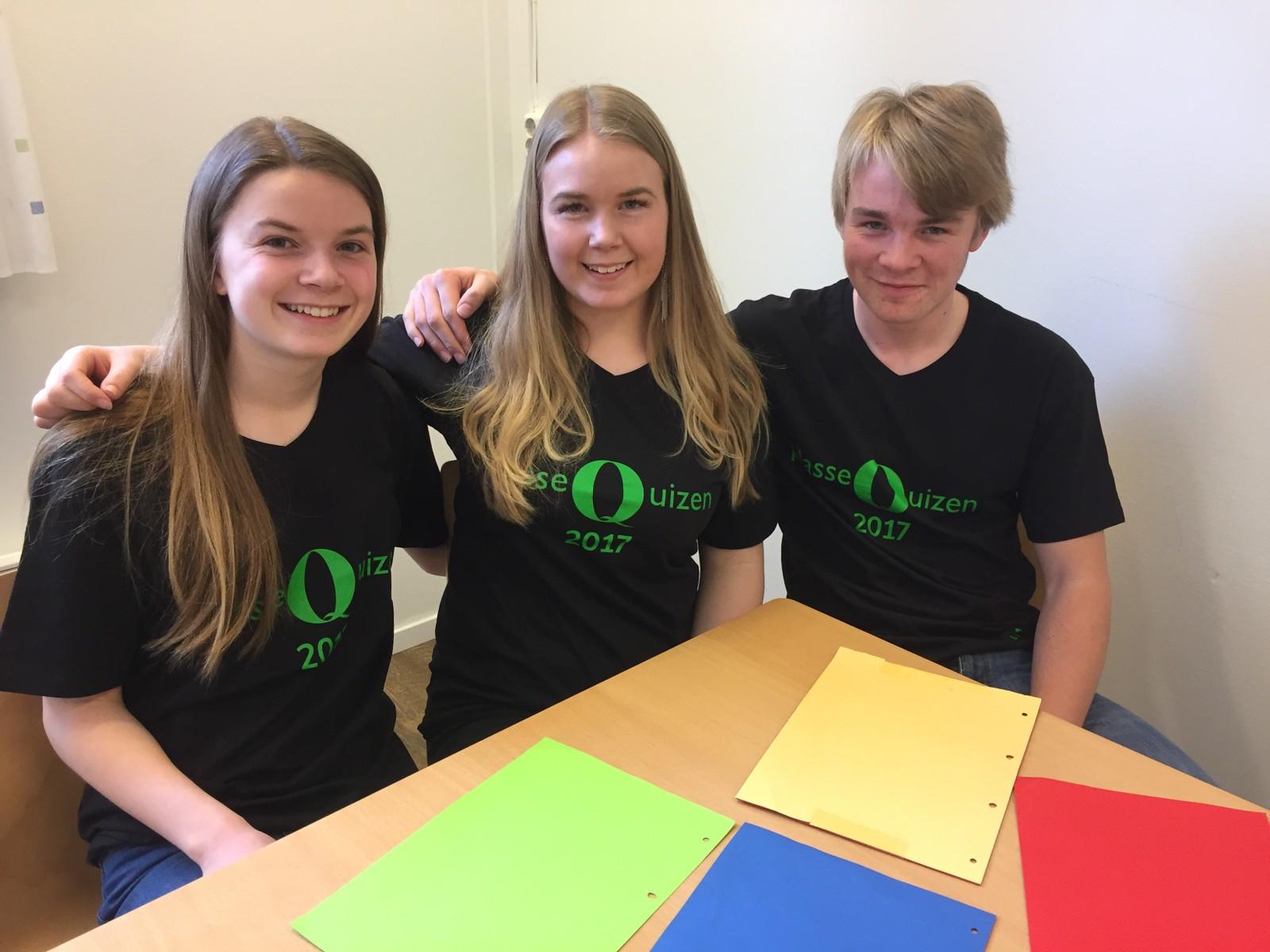 Marie Flatebø, Marianne Sand Svendsen og Sokrates Brendsdal Espejord fra Reinsvoll ungdomsskole klarte 11 poeng.