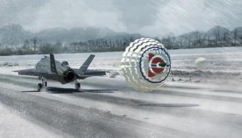 F-35 tester bremseskjermen