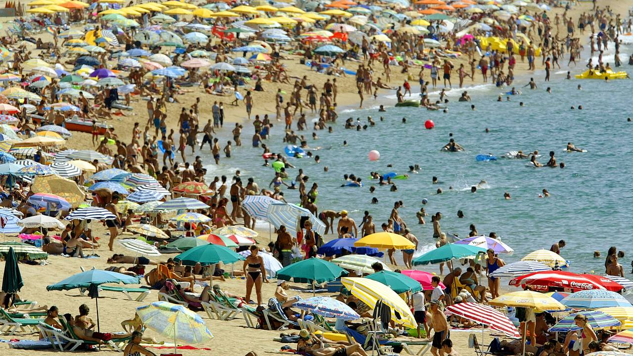 Calella beach near Barcelona. Før