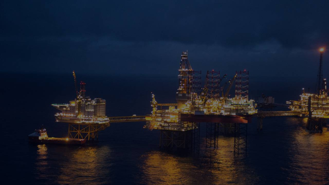 Oljeplattform i Nordsjøen.