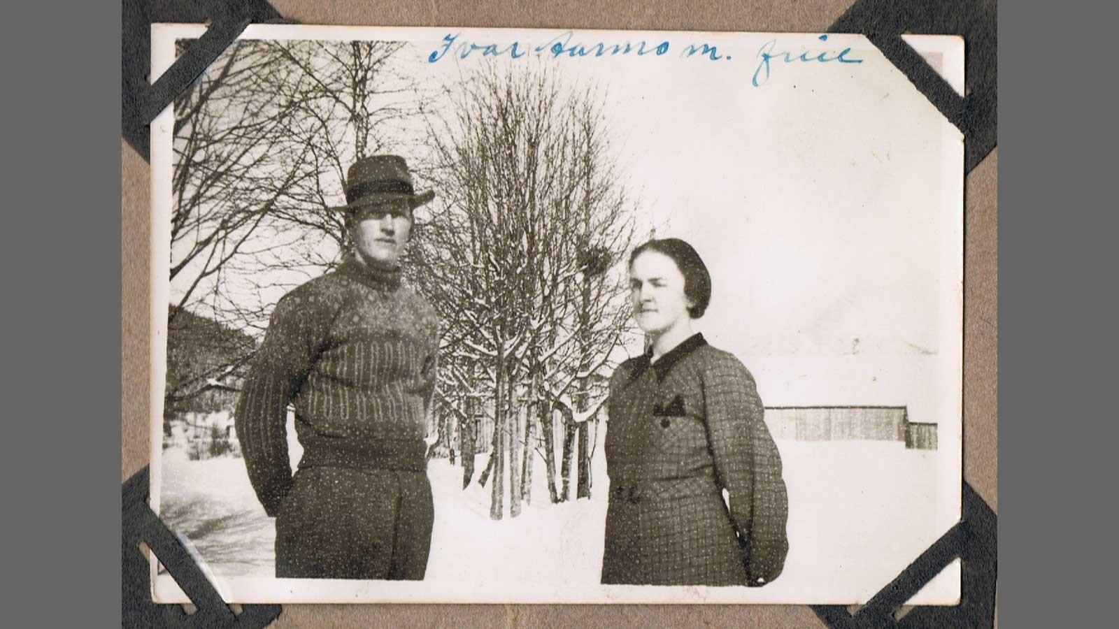 Passfoto av Ivar og Margot Aarmo