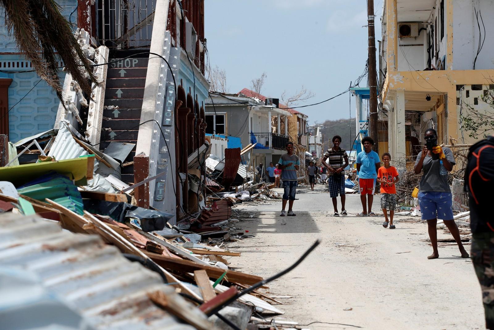 Flere hjem har blitt revet vekk i St. Martin.