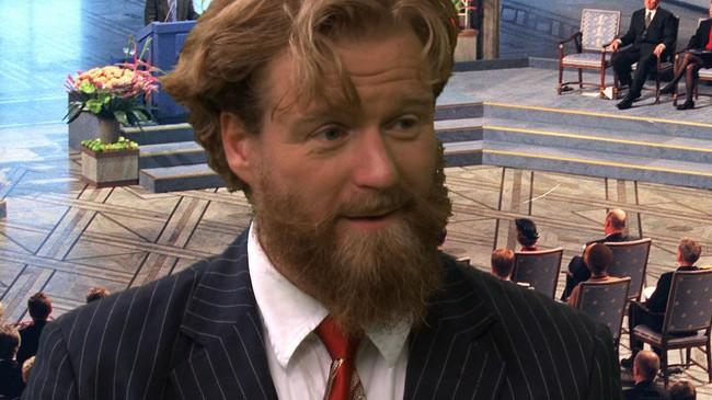 Petter Schjerven presenterer fem minutter om Nobels fredspris