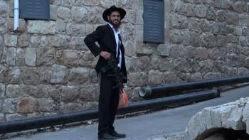 Hebron-bosetter med gevær
