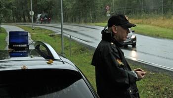 Politimann ved funnstedet