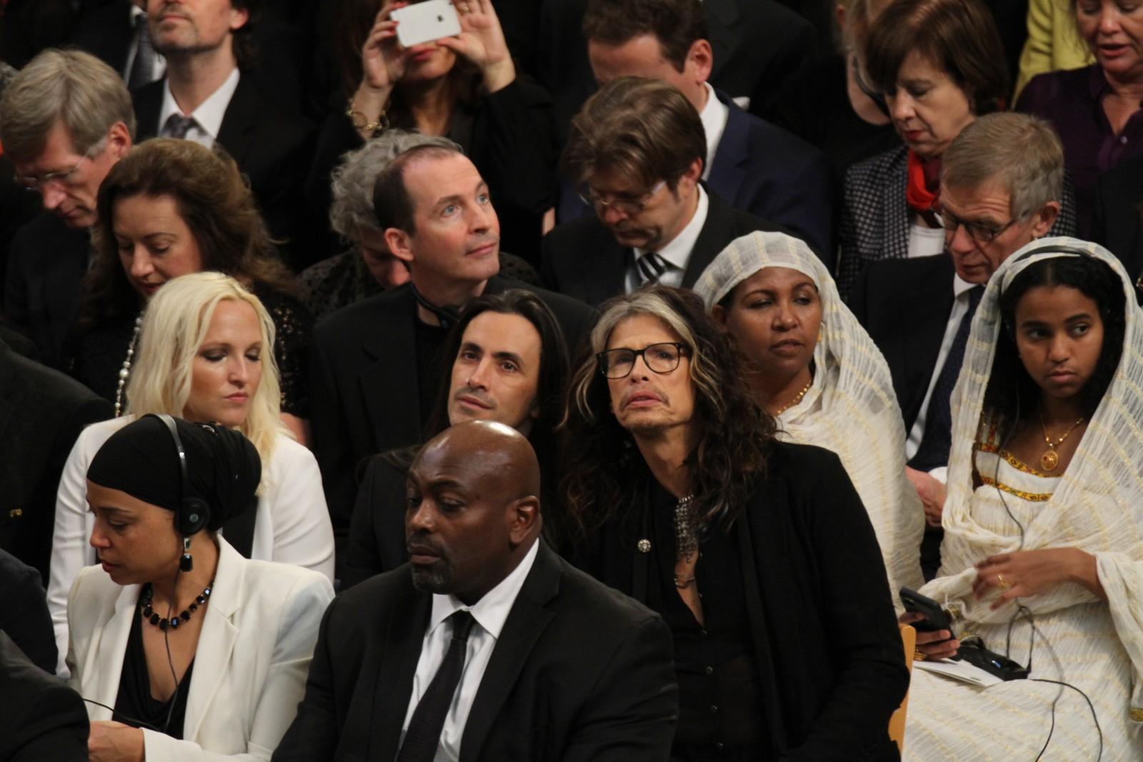 AEROSMITH: Steven Tyler skal opptre under Nobelkonserten. I formiddag var han i Oslo rådhus for å følge prisutdelingen.